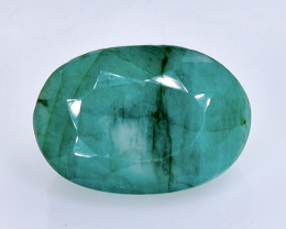 5.54 Crt Natural  Emerald Faceted Gemstone.( AB 4)