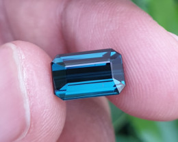 UNHEATED 3.06 CTS STUNNING IF-VVS INDICOLITE BLUE TOURMALINE MOZAMBIQUE