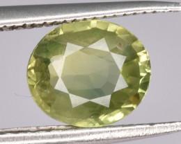 1.24 CTS Natural Green Sapphire Gem