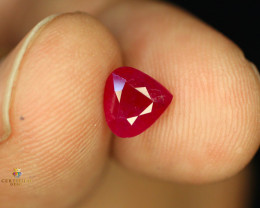 1.87 Carats Natural Ruby from Tajikistan