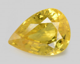0.86 Cts  Yellow Color Natural Sapphire Loose Gemstones
