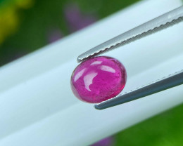 Rubilite Tourmaline 1.29 Cts Pinkish Red Cabochon BGC976