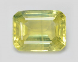 *NoReserve*Sapphire 0.57 Cts Rare Natural Fancy Greenish Yellow Color Loose