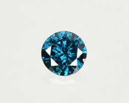 0.04 Cts Natural Electric Blue Diamond Fancy Round Cut 2.30mm  Africa