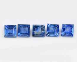 Blue Sapphire 0.83 Cts 5 Pcs Amazing Rare Natural Fancy Loose Gemstone