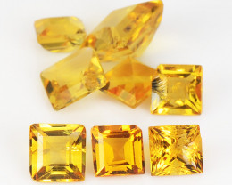 Citrine 2.14 Cts 8 Pcs Fancy Golden Yellow Color Natural Gemstone