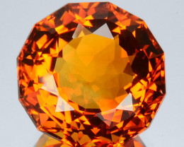 ~CUSTOM CUT~ 11.90 Cts Natural Golden Orange Citrine Fancy Round Brazil