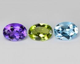 Fancy Gemstones 3.72 Cts 3 Pcs Fancy Mix Color Natural