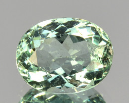 1.10 Cts Natural Nice Green Aquamarine Oval Cut Brazil