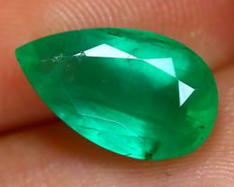 Emerald 2.57Ct Pear Cut Natural Green Color Emerald C2001
