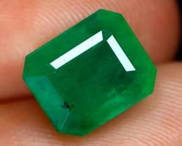 Emerald 2.94Ct Octagon Cut Natural Green Color Emerald C2002