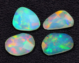 2.67Ct Bright Rainbow Neon Flash Rose Cut Welo Opal Lot A2015