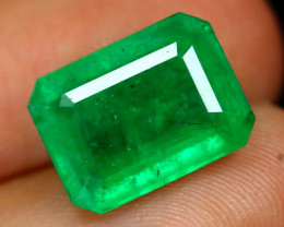 Emerald 4.58Ct Octagon Cut Natural Green Zambian Emerald B2102