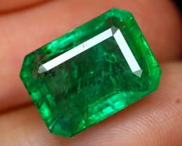 Emerald 5.92Ct Octagon Cut Natural Green Zambian Emerald B2107
