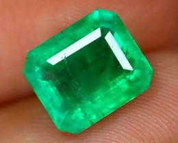 Emerald 2.72Ct Octagon Cut Natural Green Zambian Emerald B2108