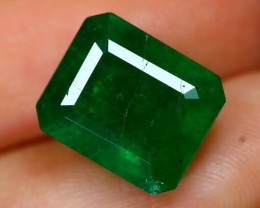 Emerald 5.12Ct Octagon Cut Natural Green Zambian Emerald B2110