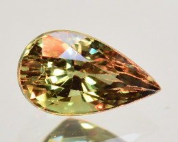 0.77 Cts Natural Color Change Alexandrite  Pear Gem India