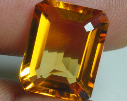6.315 CRT BEAUTIFUL RARE FACETED GOLDEN YELLOW CITRINE-