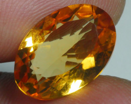 5.395 CRT BEAUTIFUL RARE FACETED GOLDEN YELLOW CITRINE-