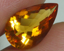 3.725 CRT BEAUTIFUL RARE FACETED GOLDEN YELLOW CITRINE-
