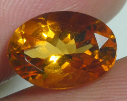 2.900 CRT BEAUTIFUL RARE FACETED GOLDEN YELLOW CITRINE-