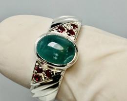 GRANDIDIERITE ( rare) RING WITH RUBYS