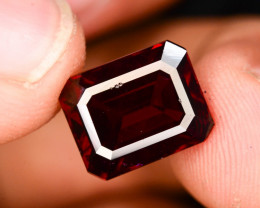 Emerald Cut 6.70 Natural Blood Red Almandite Garnet ! GAA !
