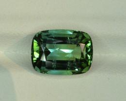 4.35 ct Green Tourmaline From Afghanistan ( Cushion Shape )