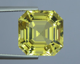 IF 15.90 Cts Natural Beautiful Asscher Cut Yellow Scapolite From Tanzania