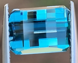 4.50cts, *Pixelated* Blue Zircon