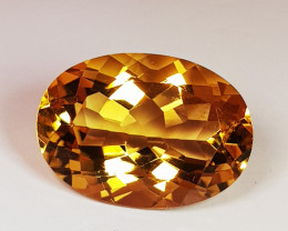 5.61 ct AAA Quality Oval Cut Natural Top Luster Natural Citrine
