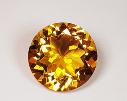 3.42 ct Top Grade Gem Awesome Round Cut Natural Citrine