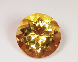 3.32 ct Excellent Gem Round Cut Top Luster Natural Citrine