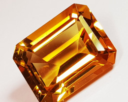 3.32 ct Top Grade Gem Stunning Octagon Cut Natural Citrine