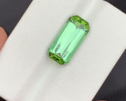 5.15 carats transparent Green colour Tourmaline Gemstone  From Afghanistan