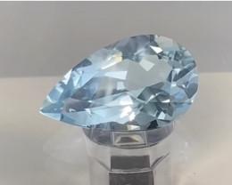 Pretty Luminous Custom Cut Soft Blue Aquamarine - Brazi KR034