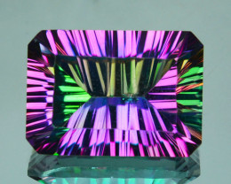 ~EMERALD CUT~ 7.69 Cts Candy Mystic Natural Topaz 14 X 10mm Octagon Brazil