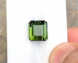 5.90 Ct Natural Olive Green Transparent Tourmaline Gemstone