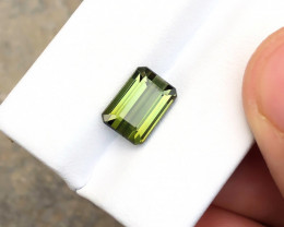 3.35 Ct Natural Yellowish Transparent Tourmaline Gemstone