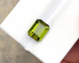 3.65 Ct Natural Yellowish Transparent Tourmaline Gemstone