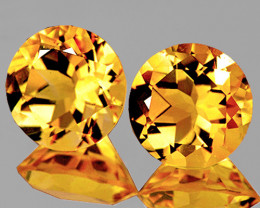 9.00 mm Round 5.20cts Golden Yellow Citrine [VVS]