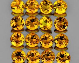 3.00 mm Round 25 pcs 2.05cts Golden Orange Citrine [VVS]