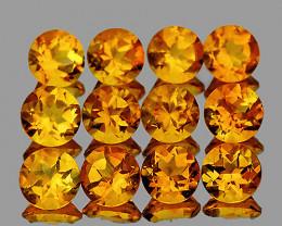 4.00 mm Round 12 pcs 2.65cts Golden Yellow Citrine [VVS]