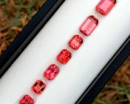 8.95 Carats Natural Asscher Cut Tourmaline Gemstones