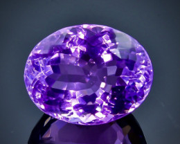 24.91 Crt Natural  Amethyst Faceted Gemstone.( AB 5)