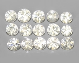 3.35 CTS EXCELLENT NATURAL WHITE ZIRCON~ ROUND  ~ NICE QUALITY GOOD LUSTER!