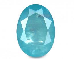 Grandidierite 1.30 Cts Neon blue Step cut BGC1127 No Reserve