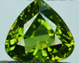 2.15 Cts Australian Unheated Natural Sapphire  Yellowish Green Heart