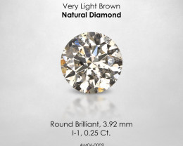 Fancy Very light Brown 0.23 Ct. Round Loose Natural Diamond Untreated
