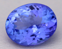 4.48Ct Natural Vivid Blue Tanzanite IF Flawless Oval Master Cut A2204